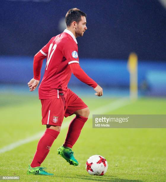 Andrija Zivkovic during the UEFA European Under21 match between Serbia and Spain at Arena Bydgoszcz on June 23 2017 in Bydgoszcz Poland