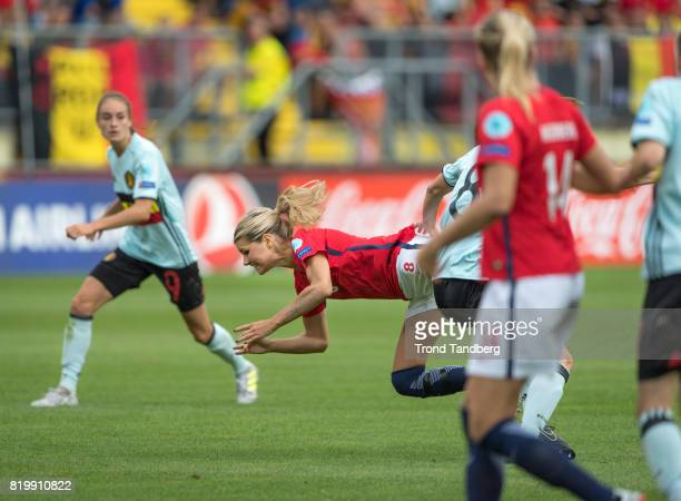 Andrine Hegerberg Ada Hegerberg of Norway during the UEFA Womens Euro 2017 between Norway v Belgium at Rat Verlegh Stadion on July 20 2017 in Breda...