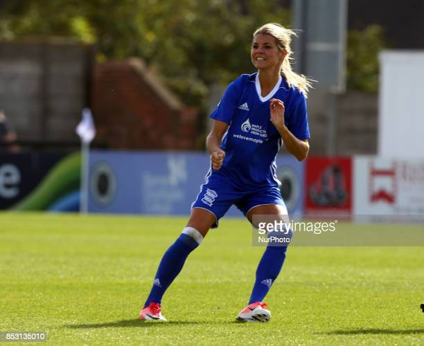Andrine Hegerberg of Birmingham City LFC during Women's Super League 1 match between Arsenal Women FC against Birmingham Ladies at Borehamwood...