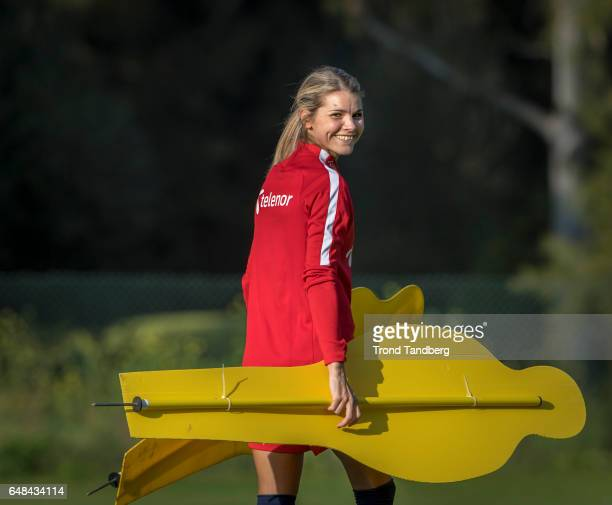 Andrine Hegerberg of Norway during training on March 02 2017 in Portimao Portugal