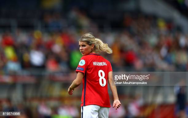 Andrine Hegerberg of Norway looks on during the UEFA Women's Euro 2017 Group A match between Norway and Belgium at Rat Verlegh Stadion on July 20...