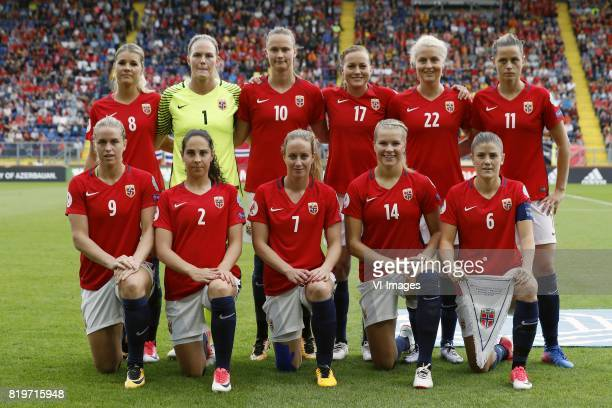 Andrine Hegerberg of Norway women goalkeeper Ingrid Hjelmseth of Norway women Caroline Graham Hansen of Norway women Kristine Mindes of Norway women...