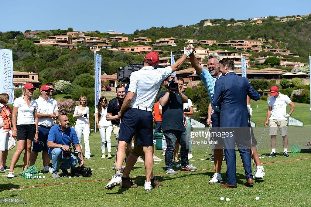 Andriy Shevchenko and Darren Clarke during The Costa Smeralda Invitational golf tournament at Pevero Golf Club - Costa Smeralda on June 25, 2016 in Olbia, Italy.