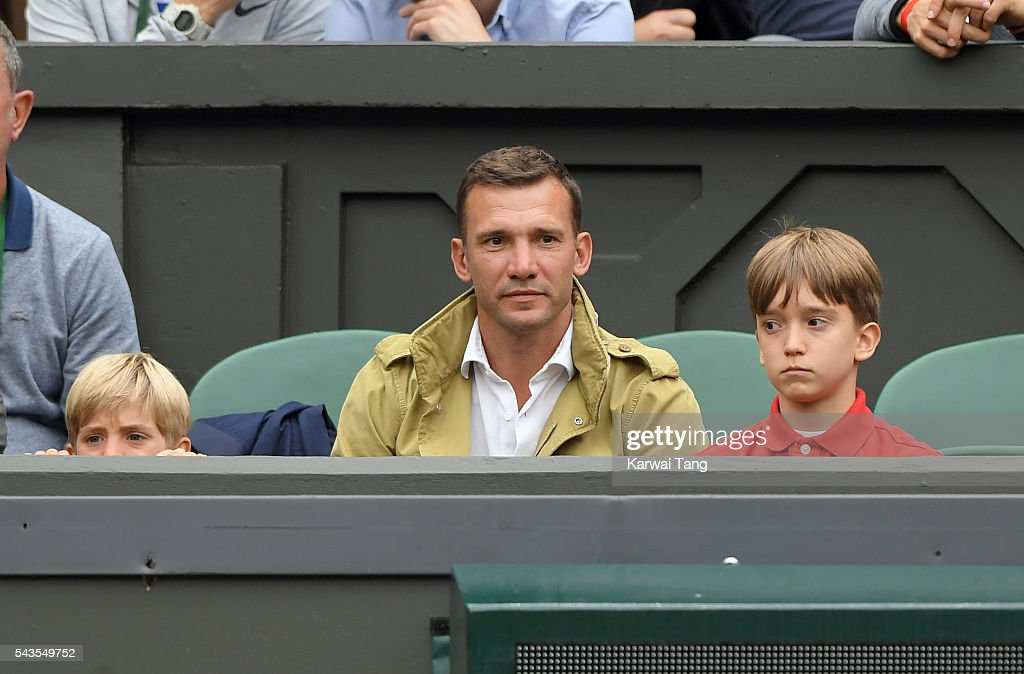 <a gi-track='captionPersonalityLinkClicked' href=/galleries/search?phrase=Andriy+Shevchenko&family=editorial&specificpeople=220501 ng-click='$event.stopPropagation()'>Andriy Shevchenko</a> attends day three of the Wimbledon Tennis Championships at Wimbledon on June 29, 2016 in London, England.