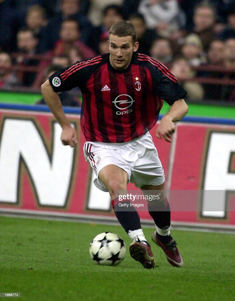 Andriy Shevchenko of AC Milan in action
