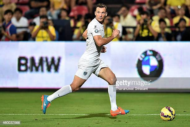 Andriy Shevchenko of Team Figo in action during the Global Legends Series match at the SCG Stadium on December 5 2014 in Bangkok Thailand