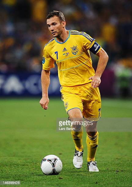 Andriy Shevchenko of Ukraine in action during the UEFA EURO 2012 group D match between Ukraine and France at Donbass Arena on June 15 2012 in Donetsk...
