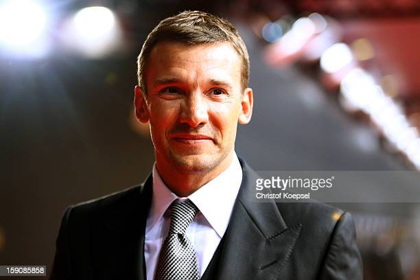 Andriy Shevchenko poses during the red carpet arrivals for the FIFA Ballon d'Or Gala 2012 on January 7 2013 at Congress House in Zurich Switzerland
