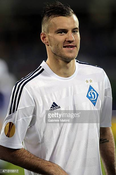 Andriy Yarmolenko of FC Dynamo Kyiv during the UEFA Europa League Quarter Final match between ACF Fiorentina and FC Dynamo Kyiv on April 23 2015 in...