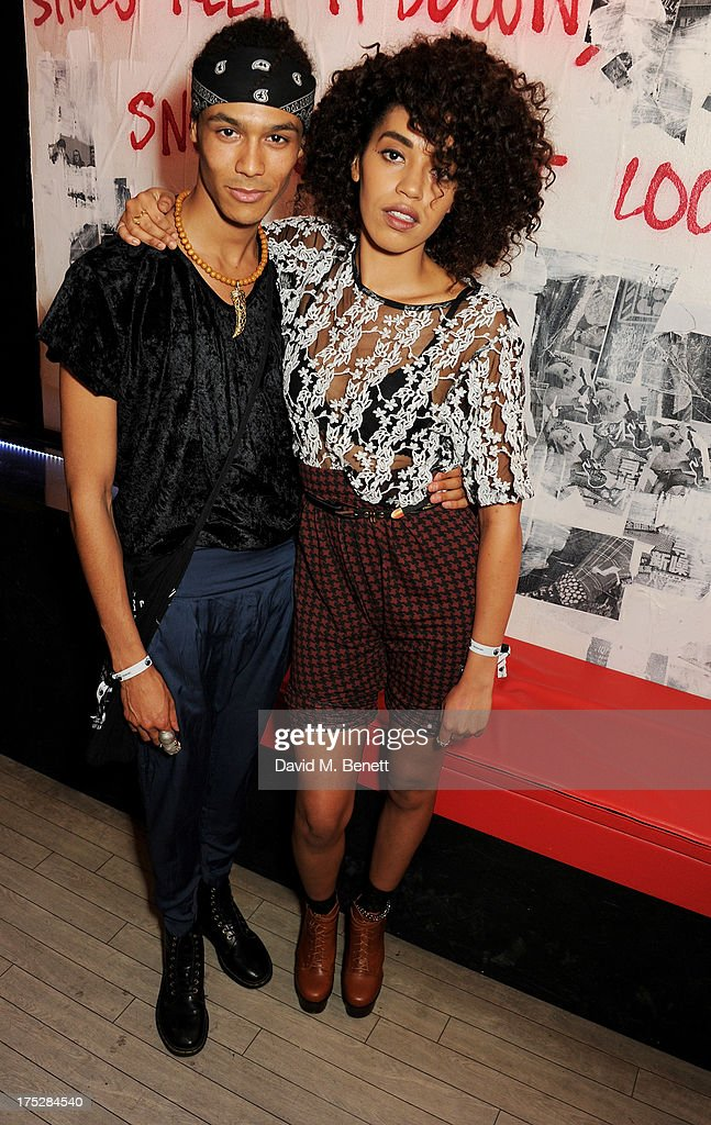 Andro Cowperthwaite (L) and singer Jetta attend Converse At The Circle, celebrating the Chuck Taylor All Star 'Rock Craftsmanship' collection, on August 1, 2013 in London, United Kingdom.