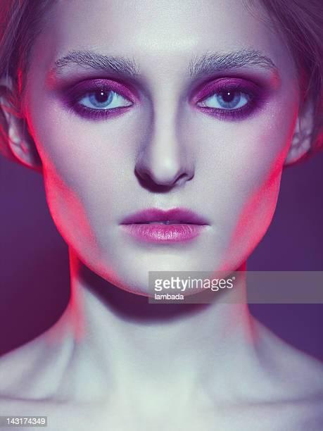 Androgynous futuristic beauty