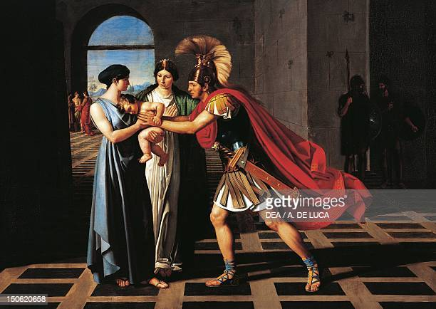 Andromache intercepting Hector at the Scaean Gate by Fernando Castelli oil on canvas 160x220 cm