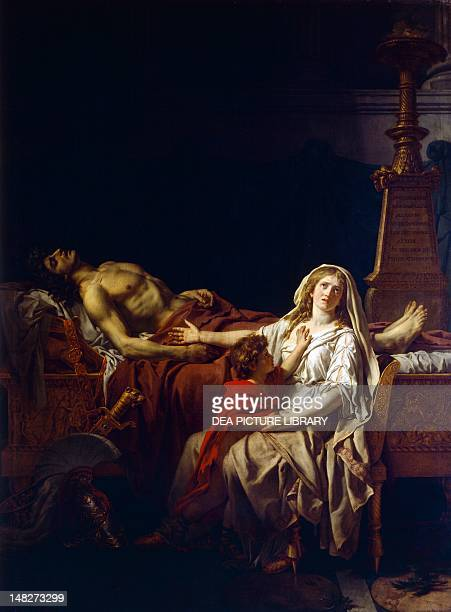 Andromache mourning over the body of Hector by JacquesLouis David Paris Petit Palais Musée Des BeauxArts De La Ville De Paris