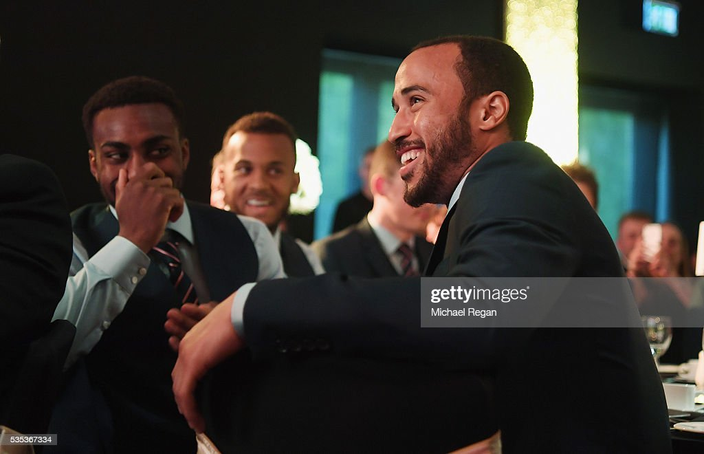 <a gi-track='captionPersonalityLinkClicked' href=/galleries/search?phrase=Andros+Townsend&family=editorial&specificpeople=4266573 ng-click='$event.stopPropagation()'>Andros Townsend</a> looks on during the England Footballers Foundation charity event at Sopwell House on May 29, 2016 in St Albans, England.