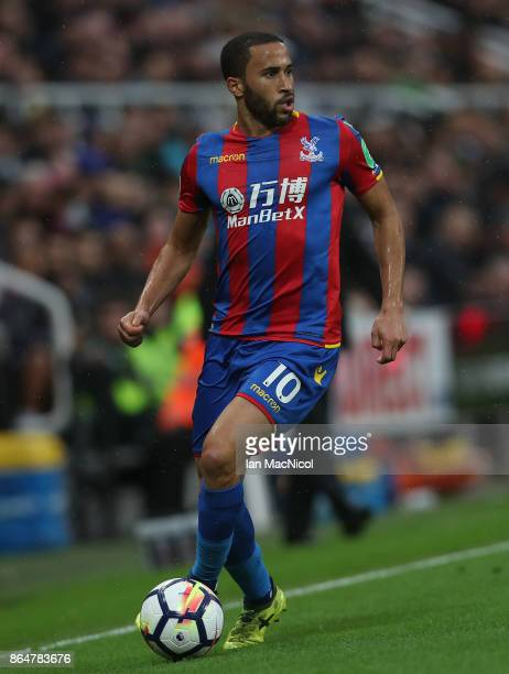 Andros Townsend of Crystal Palace controls the ball during the Premier League match between Newcastle United and Crystal Palace at St James Park on...