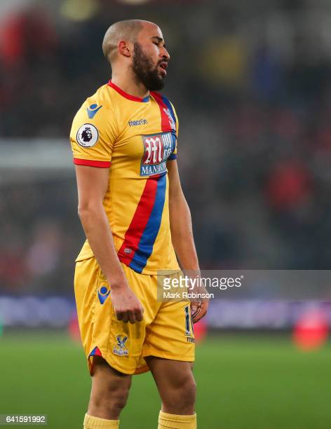 Andros Townsend of Crystal Palace during the Premier League match between Stoke City and Crystal Palace at Bet365 Stadium on February 11 2017 in...