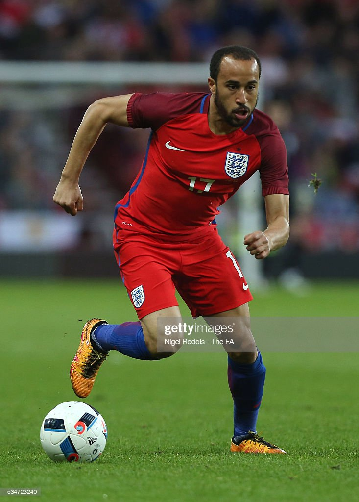 <a gi-track='captionPersonalityLinkClicked' href=/galleries/search?phrase=Andros+Townsend&family=editorial&specificpeople=4266573 ng-click='$event.stopPropagation()'>Andros Townsend</a> of England during the International Friendly match between England and Australia at Stadium of Light on May 27, 2016 in Sunderland, England.