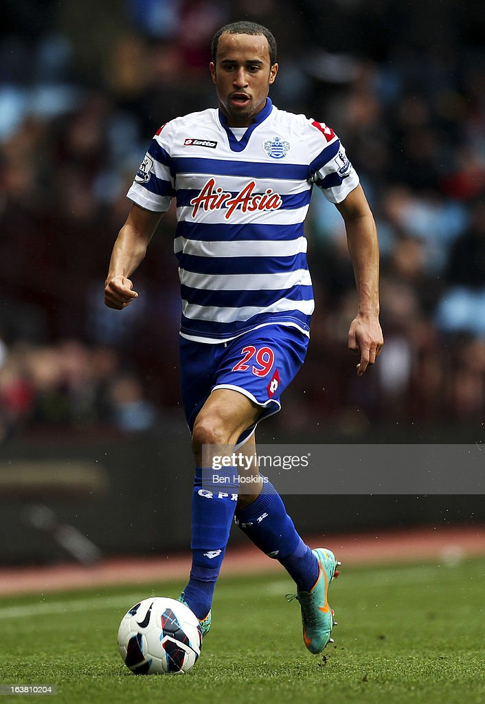 Andros Townsend of QPR in action during the Barclays Premier League match between Aston Villa and Queens Park Rangers at Villa Park on March 16, 2013 in Birmingham, England.