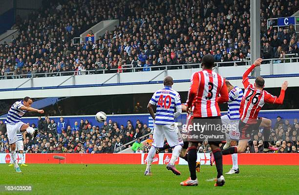 Andros Townsend of Queens Park Rangers scores their second goal during the Barclays Premier League match between Queens Park Rangers and Sunderland...