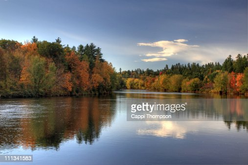Androscoggin River Bethel, Maine : Stock Photo