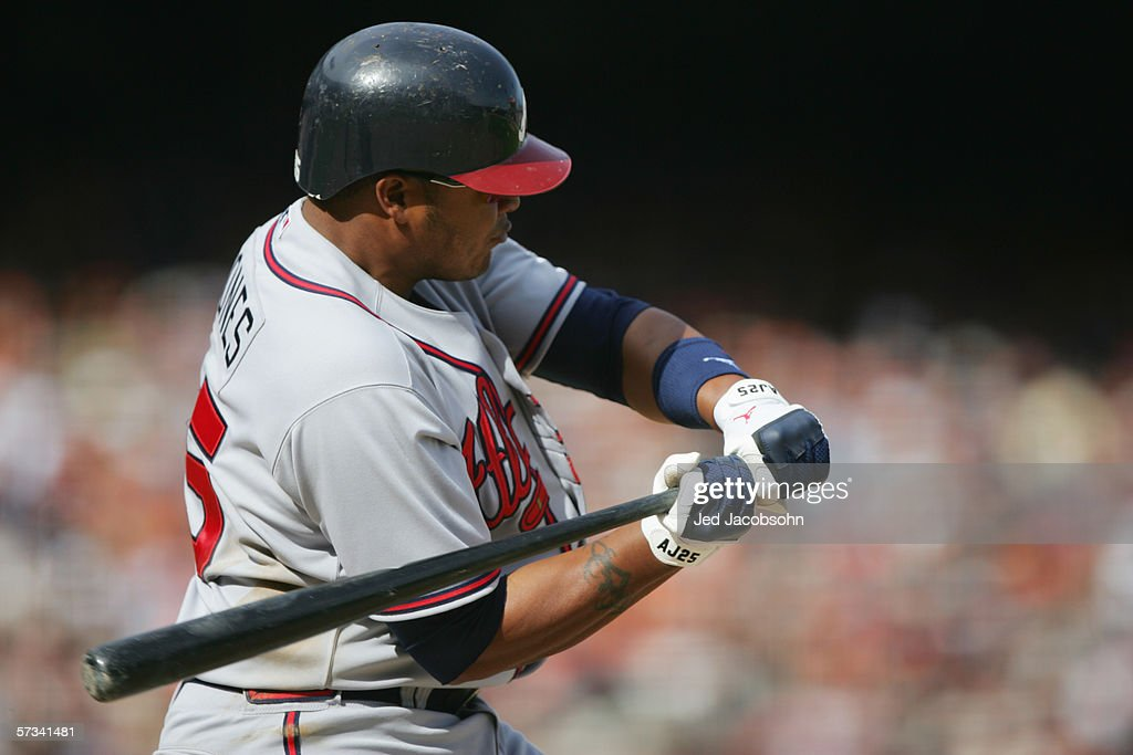 Andruw Jones 25 Of The Atlanta Braves Bats Against San Francisco Giants During
