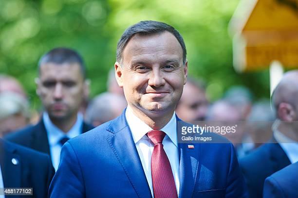 LODZ POLAND SEPTEMBER 13 Andrzej Duda attends the Presidential Harvest Festival on September 12 2015 in Spala Poland The Harvest Festival is a folk...