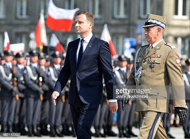 Andrzej Duda the new Polish president takes over command of the Polish armed forces at a ceremony at Pilsudski Square in Warsaw on August 6 2015 AFP...