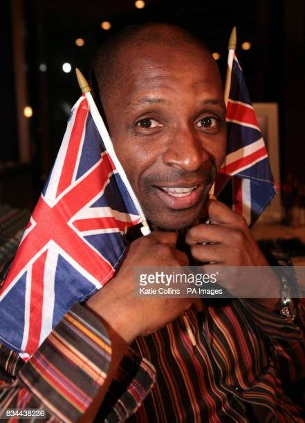 Andy Abraham in a west London recording studio as he prepares his UK Eurovision entry