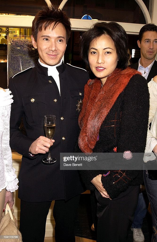 Andy And Patti Wong, The Skin Care Speacialist Jo Malone Opened Her New Flagship Store In Brook St Near Clarridges And Her Friends Turned Up To Support Her