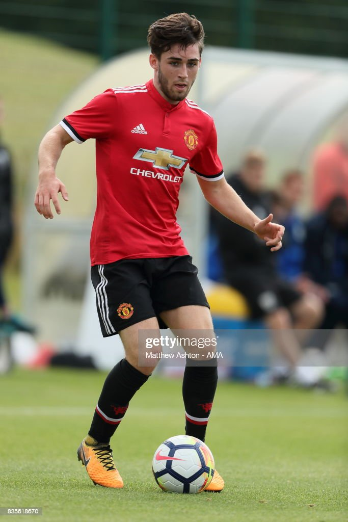Andy Barlow of Manchester United during the U18 Premier League match between West Bromwich Albion and Manchester United on August 19, 2017 in West Bromwich, England.