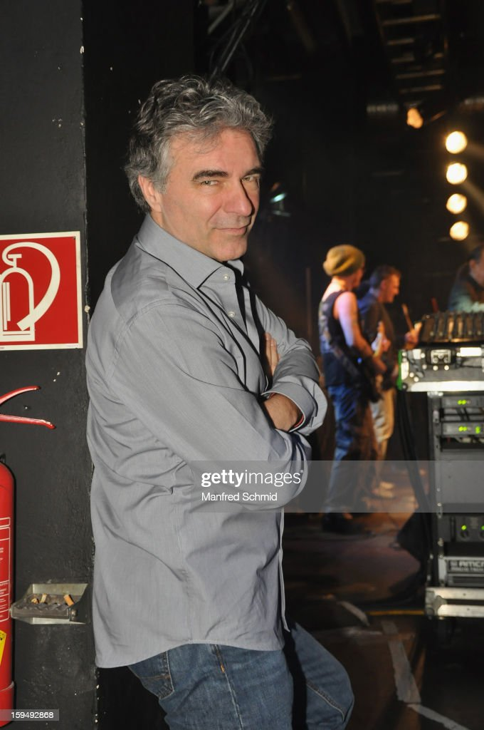 Andy Baum poses backstage during the 'Hallucination Company plays Hansi Lang Concert' at Szene Wien on January 13, 2013 in Vienna, Austria.