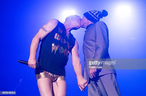 Andy Bell and Vince Clarke of Erasure perform at Terminal 5 on December 31 2014 in New York City