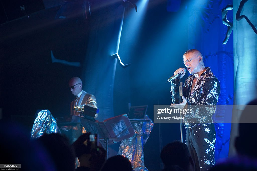 Andy Bell and Vince Clarke of Erasure perform on stage at The Independent on March 25th 2005 in San Francisco, California, United States.