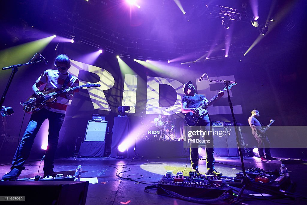 Andy Bell Lawrence Colbert Mark Gardener and Steve Queralt of Ride perform at The Roundhouse on May 24 2015 in London United Kingdom