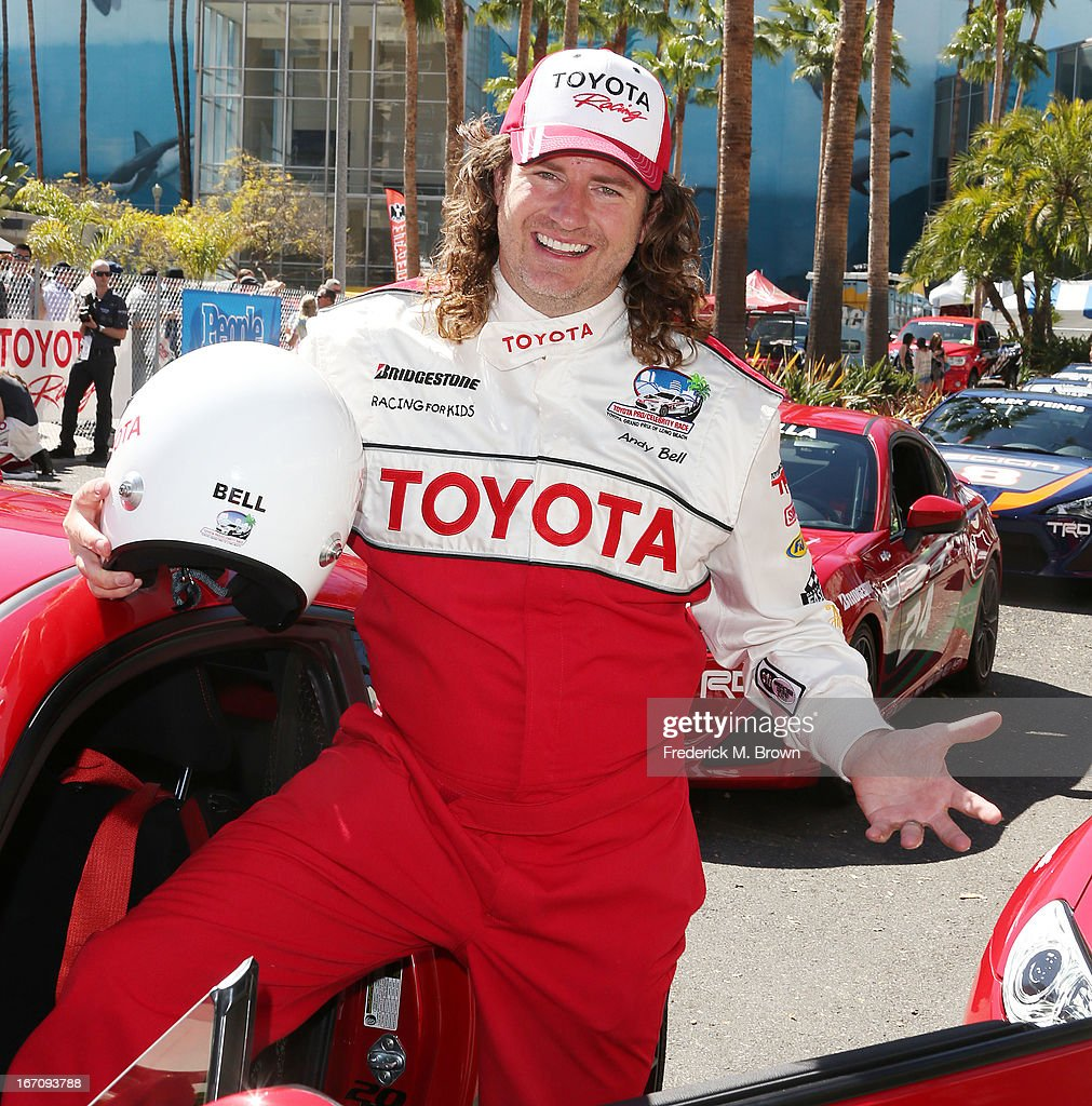 Andy Bell, Motorcross Champion/MTV star, attends the 37th Annual Toyota Pro/Celebrity Race qualifying on April 19, 2013 in Long Beach, California.