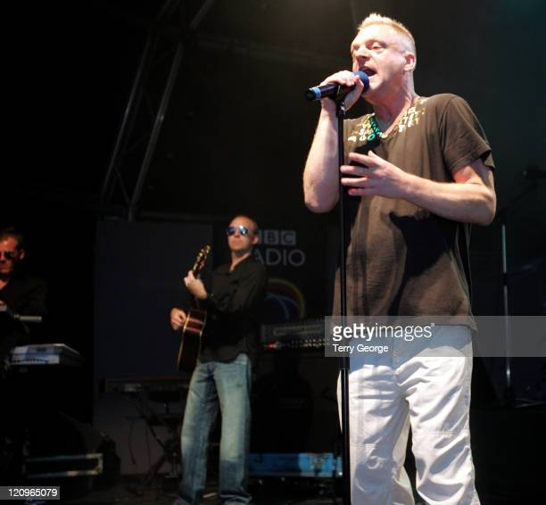 Andy Bell of Erasure during 2005 Blackpool Illuminations Launch at Blackpool Seafront in Blackpool Great Britain