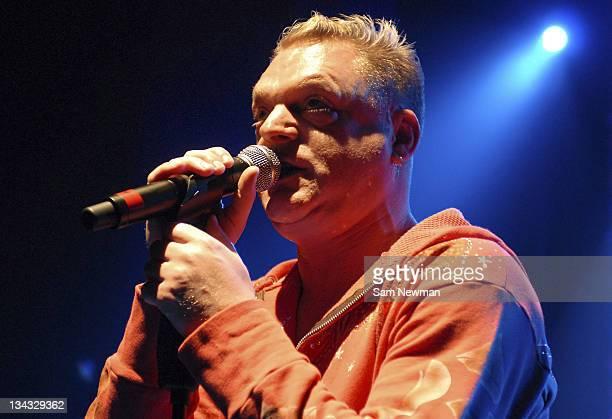 Andy Bell of Erasure during Erasure in Concert at Shepherds Bush Empire in London April 19 2006 at Shepherds Bush Empire in London Great Britain