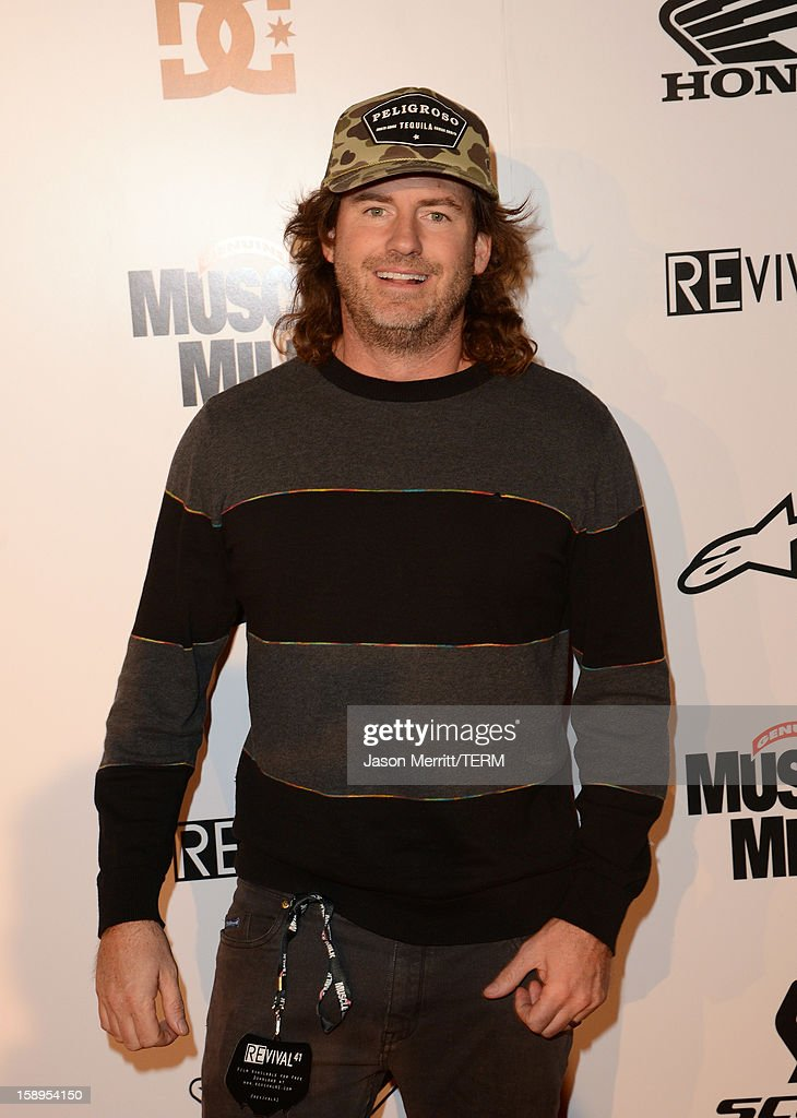 Andy Bell of Nitro Circus attends the Trey Canard 'REvival 41' premiere held at UltraLuxe Cinemas at Anaheim GardenWalk on January 3, 2013 in Anaheim, California.