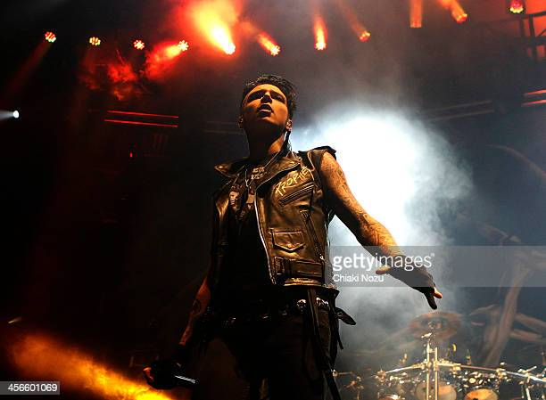 Andy Biersack of Black Veil Brides performs at The Roundhouse on December 14 2013 in London England