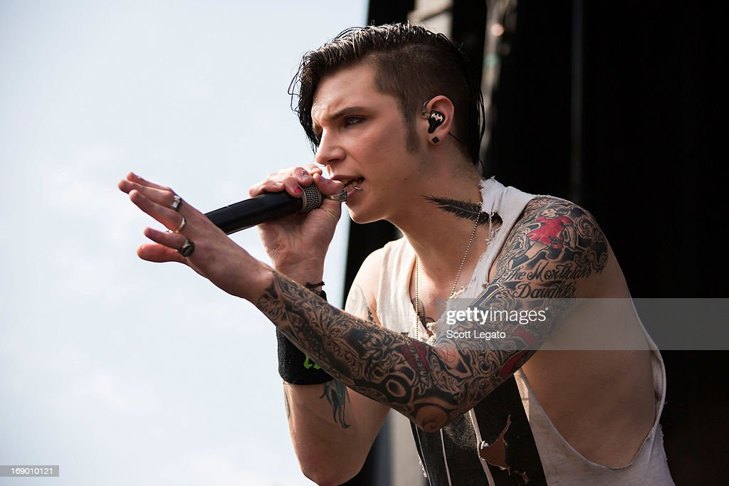 Andy Biersack of Black Veil Brides performs during 2013 Rock On The Range at Columbus Crew Stadium on May 18, 2013 in Columbus, Ohio.