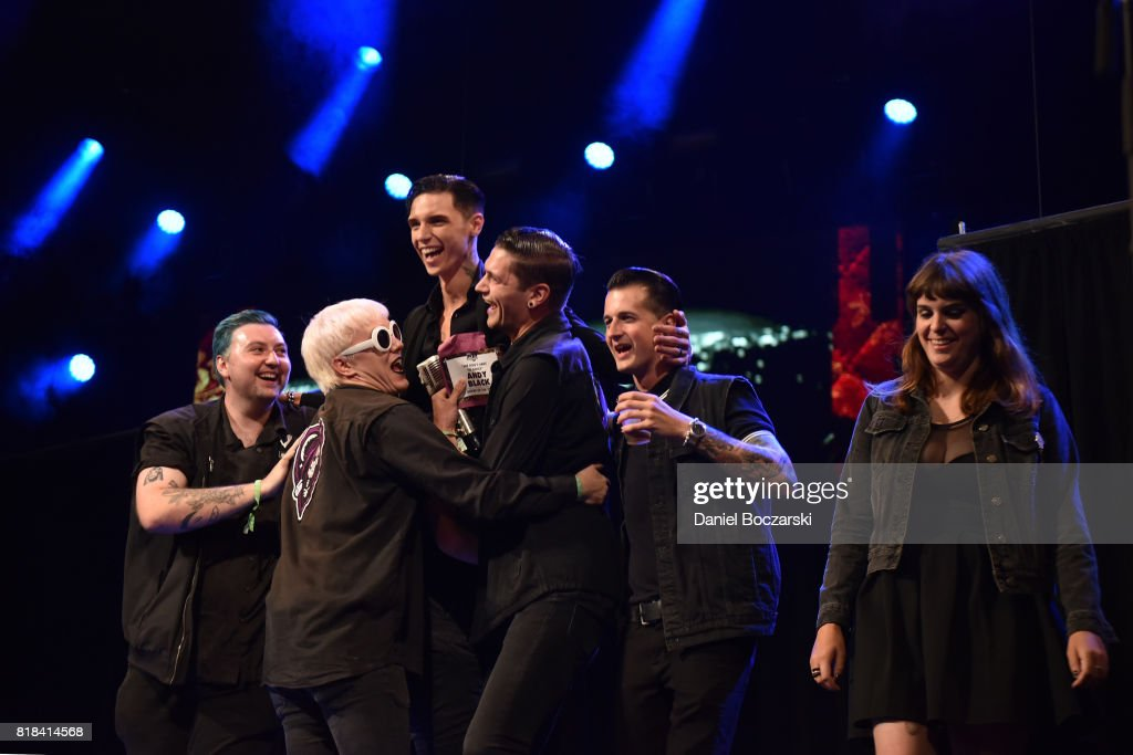 Andy Black and Creepers attend the 2017 Alternative Press Music Awards at KeyBank State Theatre on July 17, 2017 in Cleveland, Ohio.