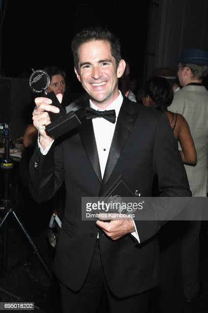 Andy Blankenbuehler winner of Best Choreography for 'Bandstand' attends 2017 Tony Awards Backstage Audience on June 11 2017 in New York City