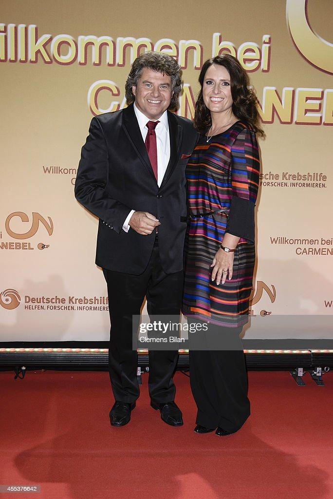 Andy Borg and Birgit attend the 'Willkommen bei Carmen Nebel' show at Velodrom on September 13 2014 in Berlin Germany