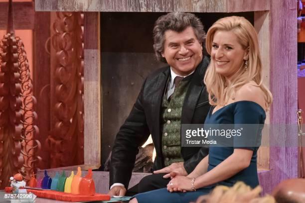 Andy Borg and Stefanie Hertel during the Stefanie Hertel Show 'Die grosse Show der Weihnachtslieder' on November 17 2017 in Suhl Germany