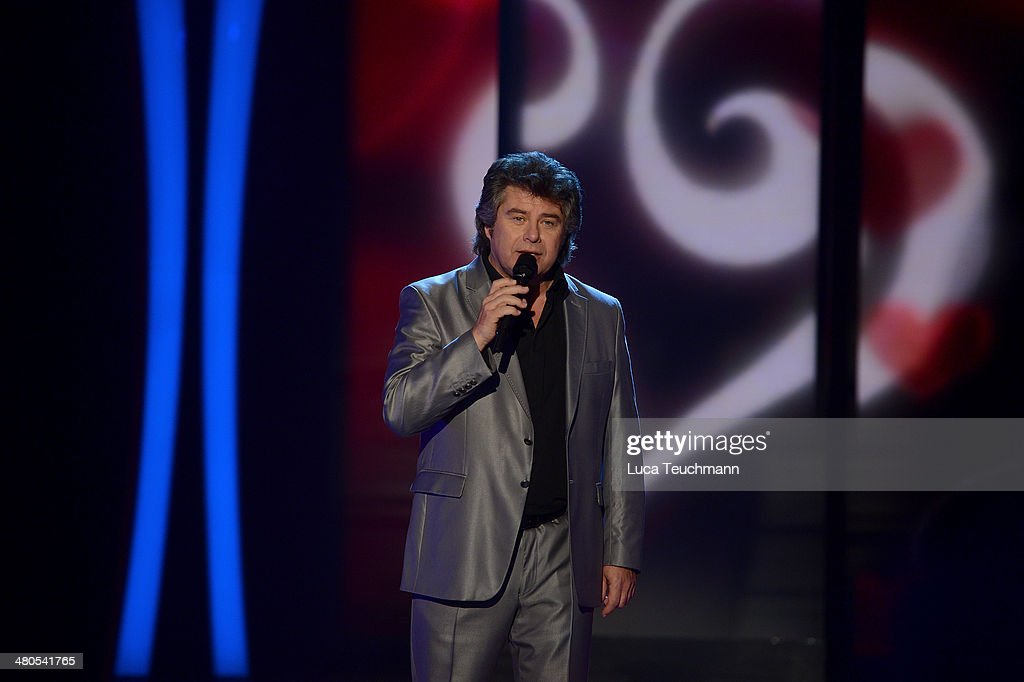 Andy Borg performs during the 'Stefanie Hertel Die grosse Show der Stars' Show at Jahrhunderthalle on March 25 2014 in Leuna Germany