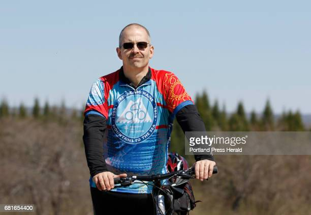 Andy Bourassa poses before a Trek Across Maine training ride Saturday April 30 2016 near his home in Winslow Maine Bourassa weighed 387lbs before...