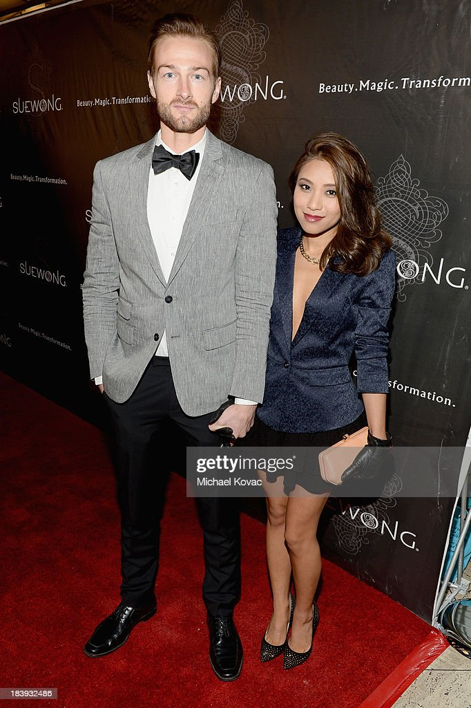 Andy Bowland (L) and Diana Bowland attend Sue Wong 'Jazz Babies' Spring 2014 Runway Show on October 9, 2013 in Los Angeles, California.