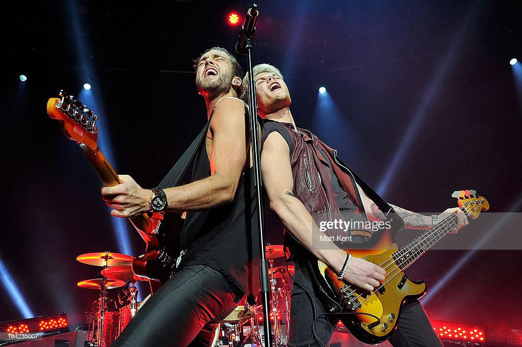 Andy Brown and Ryan Fletcher of Lawson perform at The Roundhouse on October 12 2013 in London England