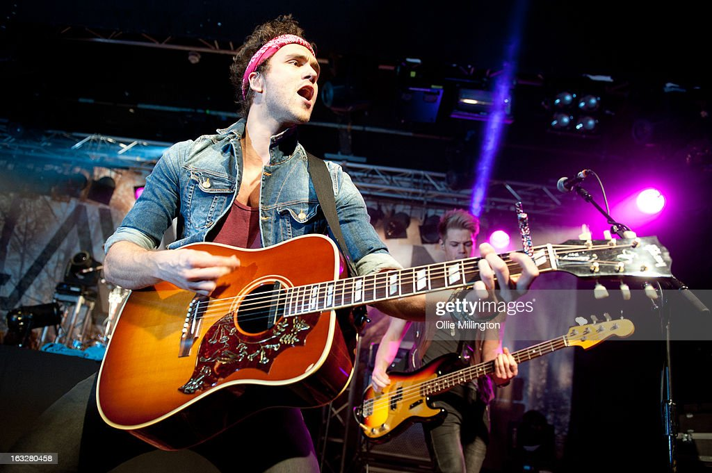 Andy Brown and Ryan Fletcher of Lawson perform during a sold out show on their Chapman Square Tour at Rock City on March 6, 2013 in Nottingham, England.