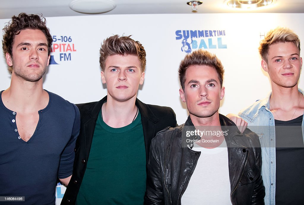 Andy Brown Joel Peat Adam Pitts and Ryan Fletcher of Lawson attend the Capital FM Summertime Ball at Wembley Stadium on June 9 2012 in London United...